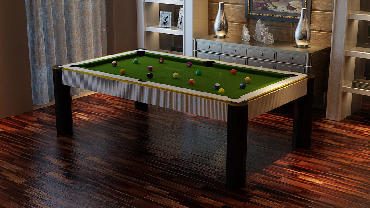 Madrid Pool Table with cylinder solid legs
