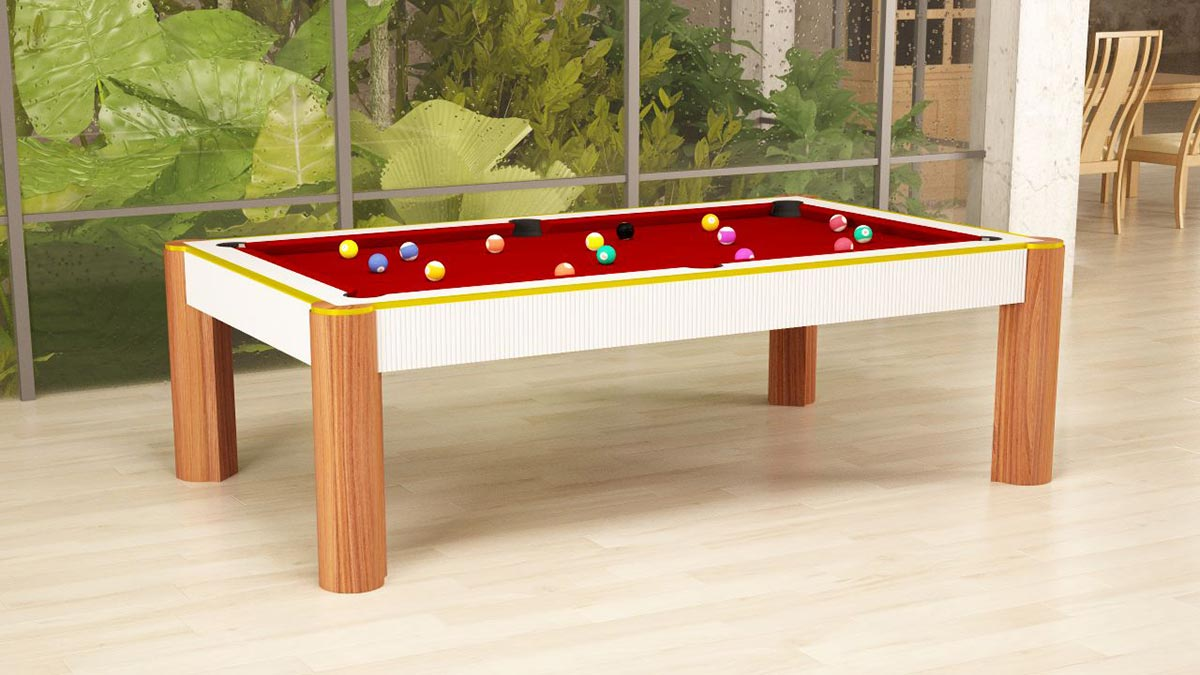 Madrid Pool Table with solid legs