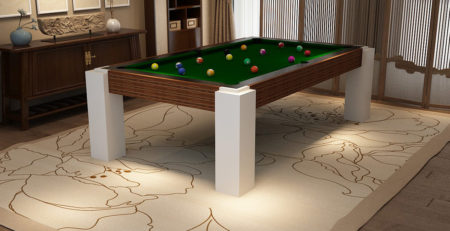 Monaco Pool Table with solid wood legs