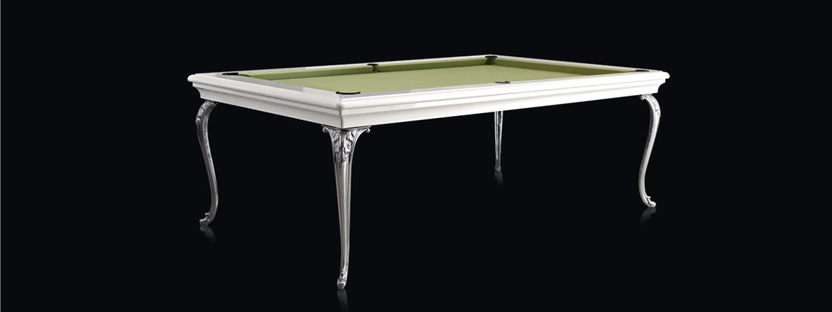 Doris Luxury Pool Dining Table with metal legs