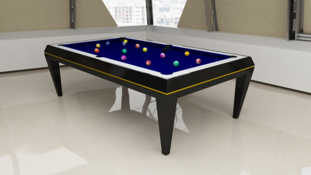 Dublino lacquered wood Pool Table