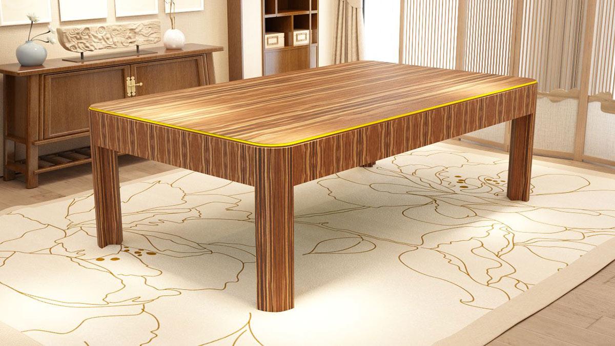 Berlino Pool Table with wood finishings