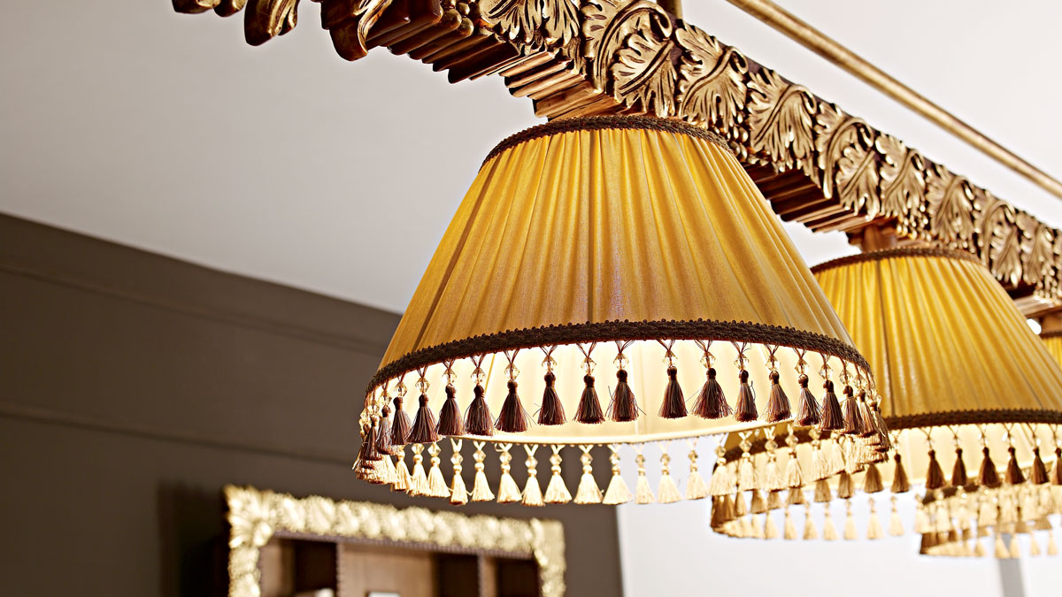 Olga Luxury Billiard Table Chandelier with gold decorations