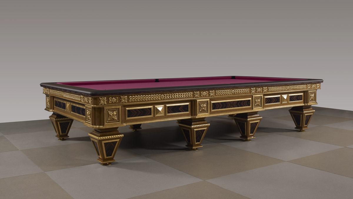 Zeus Luxury Billiard Table with pink cloth