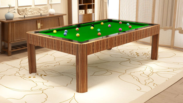 Berlino modern and gold wood Pool Tables