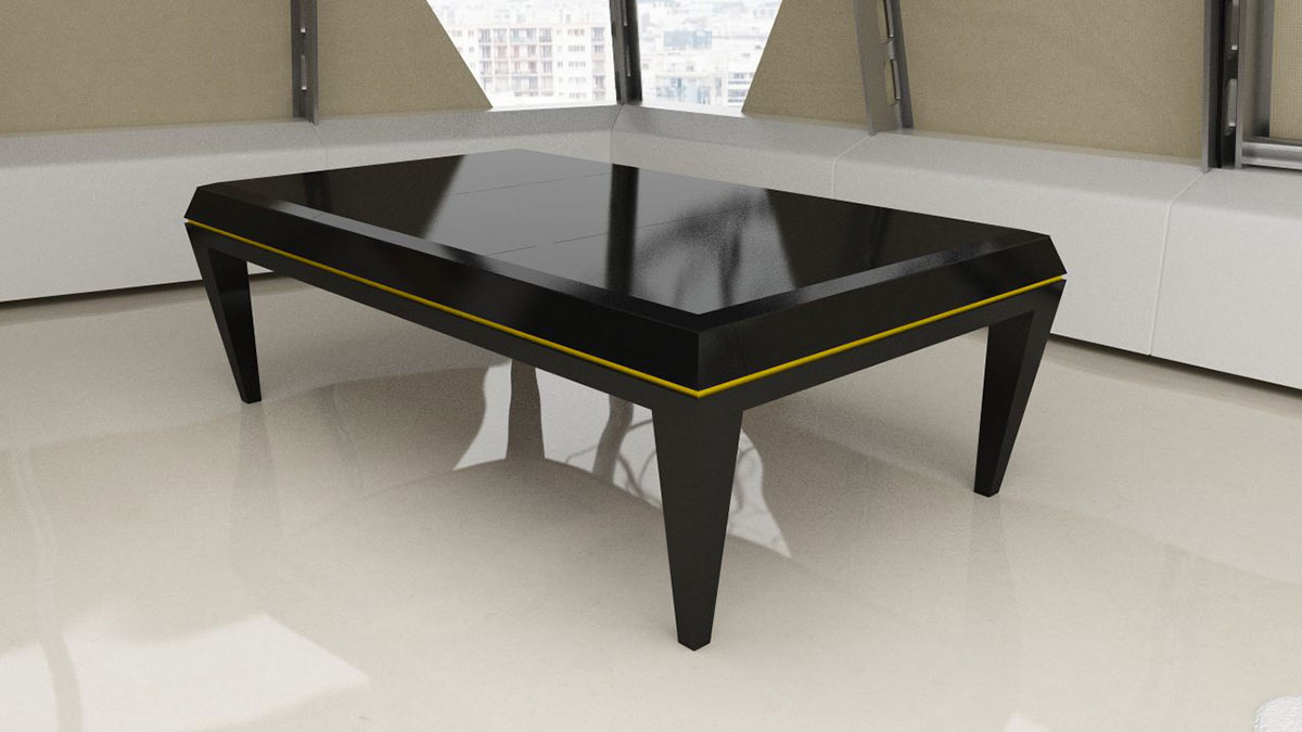 Dublino Pool Table with legs square